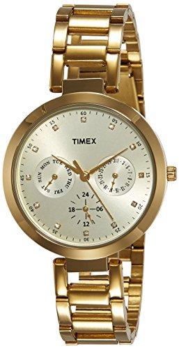 TIMEX Fashion Analog Gold Dial Women's Watch-TW000X208