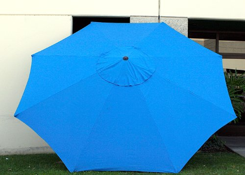New 9′ FT Market Patio Garden Umbrella Replacement Canopy Canvas Cover Blue For Sale