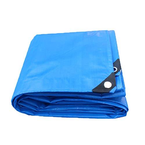 WCS Regenfestes Tuch Wasserdichte Sonnencreme-Plane Gepolsterte Farbstreifen Stoffgewebe Kunststoff Gewebtes Tuch Blaume Poncho Blaume Plane Blaumenband Blau (180 g Quadratmeter, Dicke  0,35 mm) Zelt-K