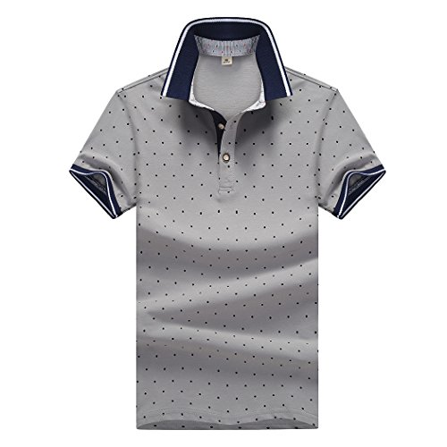 SemiAugust(セミオーガスト)アウター メンズ ポロシャツ 半袖 水玉柄 ゴルフウェア おしゃれ シャツ キレイメ ゴルフ カジュアル ボダンダウン ストリート