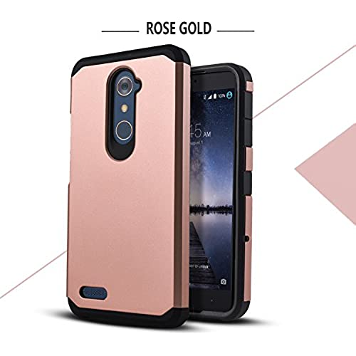 Galaxy S8 Edge Case, Starshop Hybrid Heavy Duty Rugged Impact Advanced Armor Soft Silicone Cover (Rose Gold) Sales