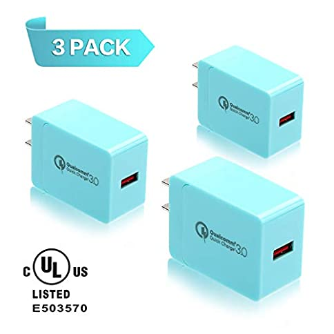 - 41Eb8vDHhbL - 3-Pack 18W Quick Charge 3.0, Qelebet Qualcomm Certified QC3.0 USB Wall Charger, UL Certified Travel Adapter Compatible with iPhone XS/X/8/7/6/Plus/iPad, Samsung, LG, Nexus, HTC and More (Blue) bestsellers - 41Eb8vDHhbL - Bestsellers
