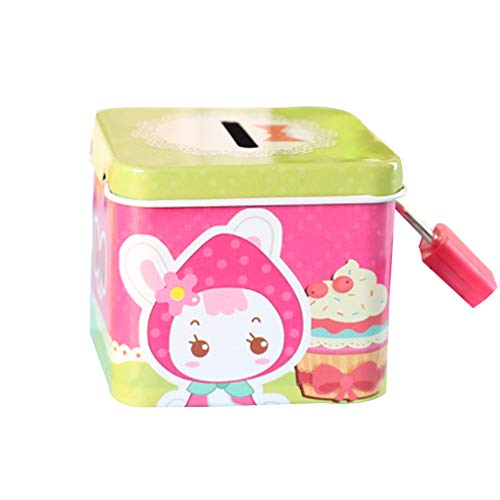- Wrea Cartoon Cute Square Tin Metal Piggy Bank Saving Cash Coin Money Box Children Toy Kids Gifts Random Color