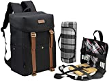CALIFORNIA PICNIC CP-COOLER-BACK-BLACK-FNSK