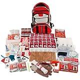 Guardian Survival Multi-Pocket Hiker's Elite Emergency Kit, 2 Person, Red Backpack