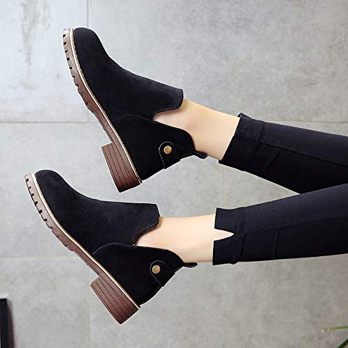 Boots Flat OverDose Vintage Solid Round Cut Women Color Suede Toe Out Martin Boots Clearance Shoes Ankle Black Suede Shoes Booties Hasp w7SapcxqX