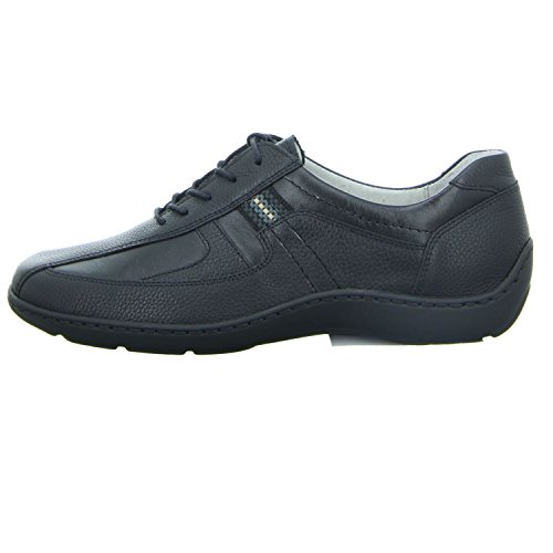 Zapatos Mujer Cordones 496000 Para 204 de negro Henni 001 Waldläufer 8IqTvHw