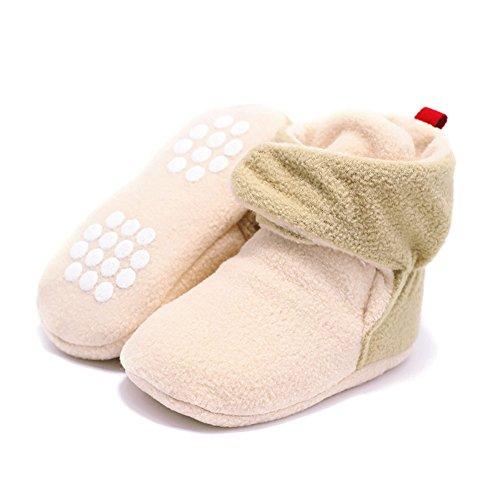 Zhuhaixmy Baby Schuhe Junge Mädchen Kleinkind Anti-Rutsch Hohe Stiefel Erstes Gehen Schuh 0-24 Monate 12 Farbe Dunkles Khaki