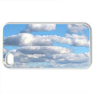 Bavarian skies - Case Cover for iPhone 4 and 4s (Sky Series, Watercolor style, White)
