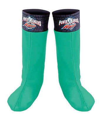 Green Ranger Boot Covers - Child Std.