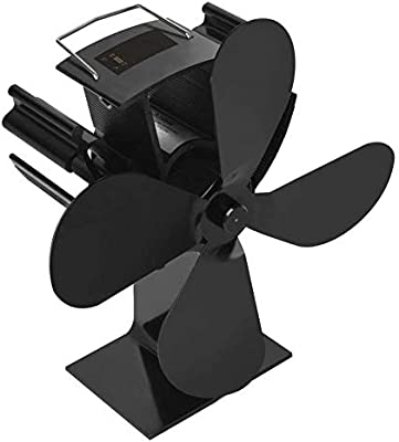mysticall Ventilador para estufa de leña de 4 palas para horno de leña/leña/chimenea, ventilador de chimenea Ventilador de estufa de calor: Amazon.es: Hogar