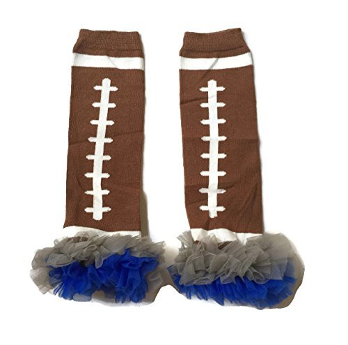 Rush Dance Team Colors Football Touch Down Baby/ Toddler Leg Warmers (One Size, Royal Blue & Gray)