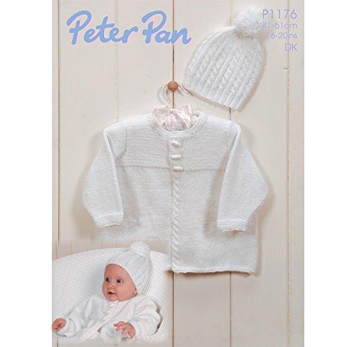 Peter Pan Baby Jacket & Hat Knitting Pattern 1176 DK