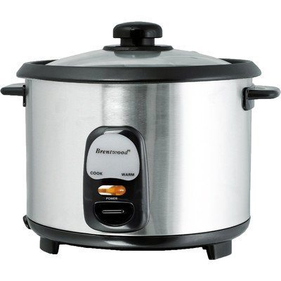 Brentwood TS-20 Appliances Stainless Steel 10 Cup Rice Cooker, Silver