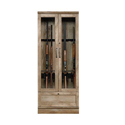 Sauder 419342 Gun Display Cabinet, Craftsman Oak Finish