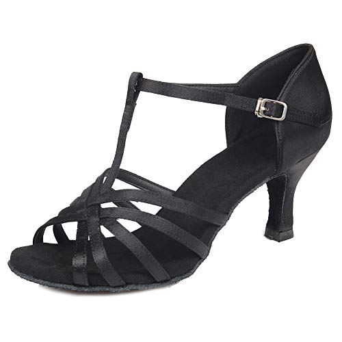 Chacha Ballroom SWDZM Latin Standard Shoes 5cm Heel Dance 403 Black Rumba Model 7 Salsa Women's tqq85wxnU
