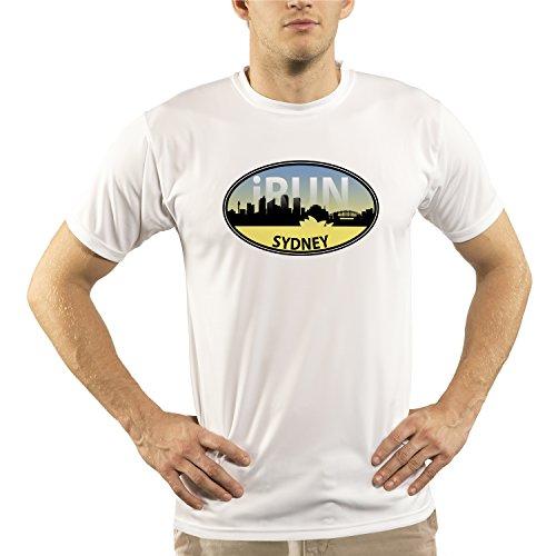 Split Time Men's Sydney iRun UPF Short Sleeve Running T-Shirt SYD-Large - Triathlon Clothing Sydney