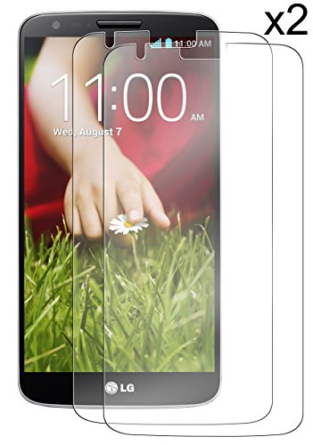 ZeroLemon 2 Pack Ultra Glass Armor - 9H Premium Tempered Glass Screen Protector for LG G2 Protect your Screen from Drops and Scratches, Shatterproof