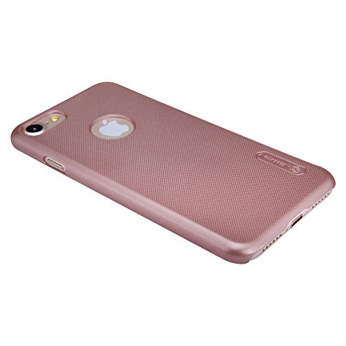 Meimeiwu Super-Frosted Tasche Qualitativ hochwertiges Super Schutzhülle Back Cover + Displayschutzfolie für iPhone 7,Rose Gold