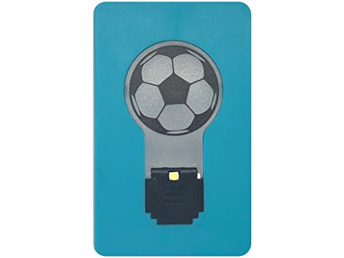 PRISTO - LUCE DI CALCIO Mini Soccer Flip Led Credit card sized Pocket light bulb Night (White Light) (BLUE) (Luce Sunglasses)