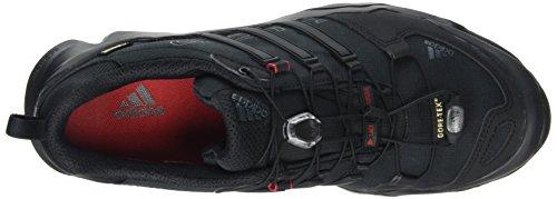 adidas Terrex Swift R GTX, Scarpe da Escursionismo Uomo Nero (Color Core Black/Dark Grey/Power Red)