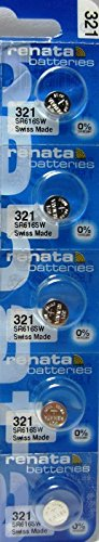 5 Renata 321 SR616SW Silver Oxide Zero Mercury Electronic (321 Maxell Watch Battery)