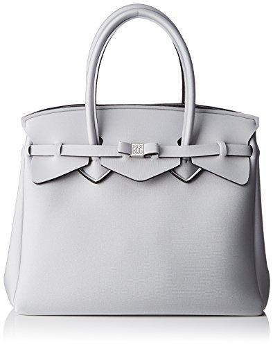 save my bag Miss 3/4, Borsa a Mano Donna, 39.5x34x19 cm (W x H x L) Argento (Filigrana Met)