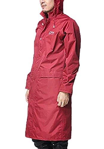 Icegrey Adulte L¨¦ger PVC Long Taille Capuche Pour Imperm¨¦able Vin Rouge XXXL