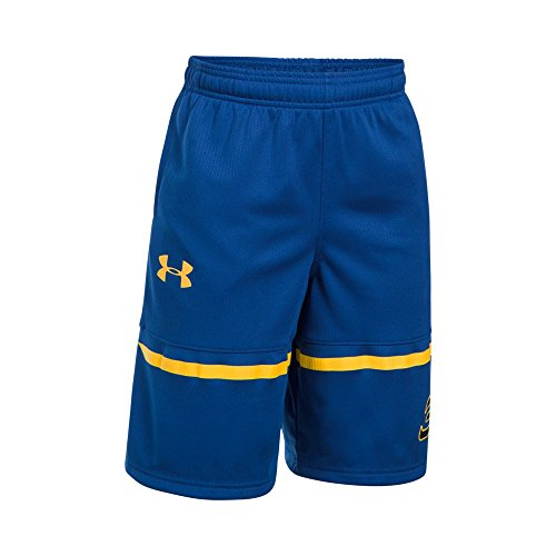 Under Armour Boys' SC30 Spear Shorts, Royal/Taxi, Youth Large