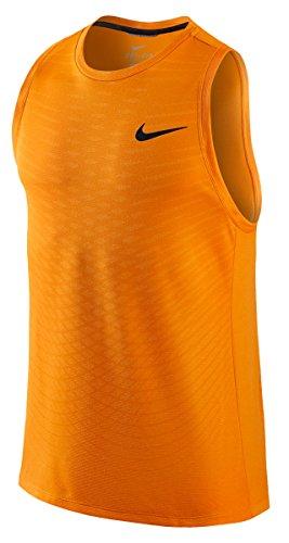 Men's Nike Dri-Fit Cool Tank Top (L, Vivid Orange/Black)