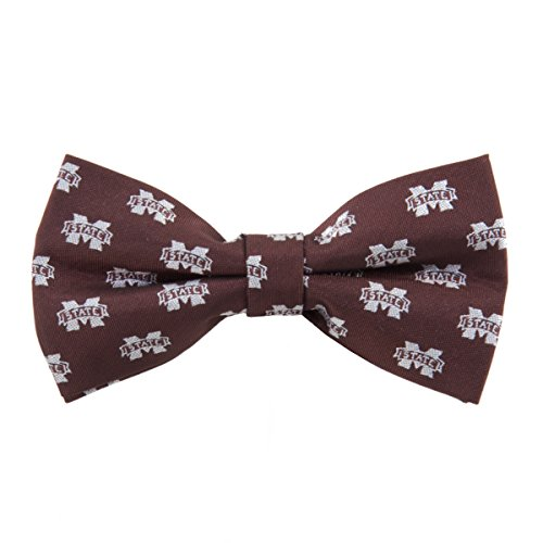 (Eagles Wings Mississippi State Bulldogs NCAA Repeated Logo Bow Tie - College Team Logo)