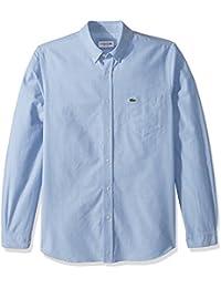 Men's Long Sleeve Oxford Button Down Collar Regular Fit Woven Shirt, CH4976