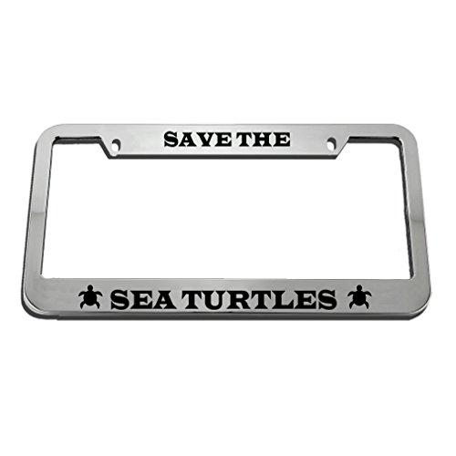 (Speedy Pros Save The Sea Turtles License Plate Frame Tag Holder)