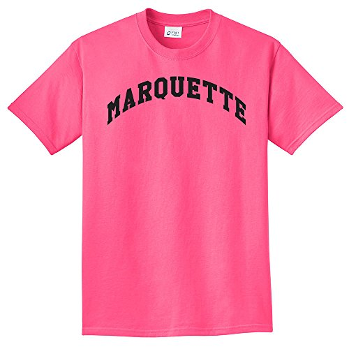 Campus Merchandise NCAA Marquette Golden Eagles Arch Neon T-Shirt, Neon Pink, XX-Large
