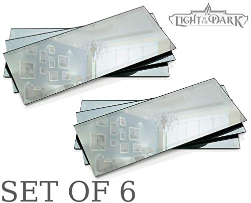 Rectangle Mirror Tray - Mirrors Glass Plates - 5 x 12 inch with 3 mm Beveled Edge - Great as Wedding and Party Table Centerpieces, Candle Plate Holder, Wall Décor. ()