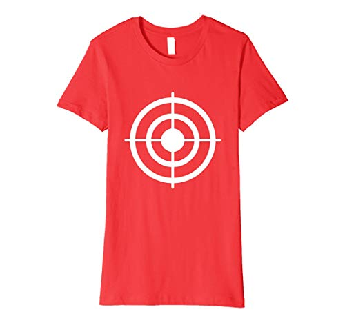 Womens Funny Bullseye Paper Target Halloween Costume T-Shirt Large Red -