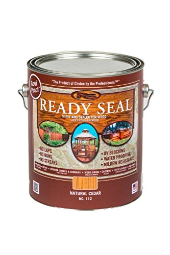 Decking Stain - Ready Seal 112 1-Gallon Can Natural Cedar Exterior Wood Stain and Sealer