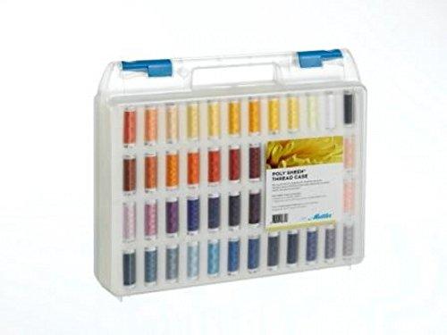 Mettler Polysheen Polyester Machine Embroidery Thread Gift Set Kit Multicoloured - per pack of 96
