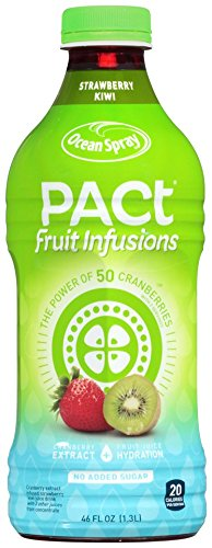 Ocean Spray Pact Fruit Infusions Juice, Strawberry Kiwi, 46 Ounce (Pack of 8)