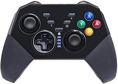 MQQ 6軸誘導モバイルゲームコントローラスイッチのBigaint Focipowゲームコントローラは、Windows PCとの互換性スイッチProのコントローラー用のワイヤレスProのコントローラーゲームパッドの交換 (Color : ブラック)