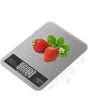 Premium Elegant Kitchen Scale Digital Pocket Food Jewlery Scale, Durable Premium Stainless Steel Platform, Dustproof & Waterproof Scale, Measuring range: 0.1oz to 11lbs (1g to 5kg) - Silver