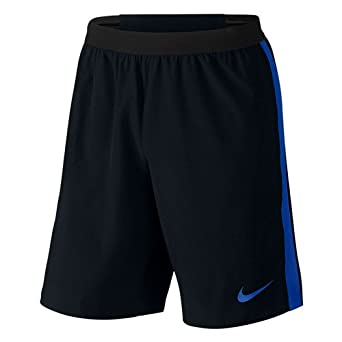 d899fce5f2 NIKE Men's Strike Woven Dri-Fit Black/Blue Training Shorts
