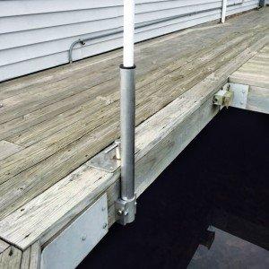 Dock Flagpole Mount - Dori Pole Dock Mount