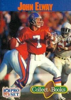 John Elway Football Card (Denver Broncos) 1990 Pro Set CollectABooks
