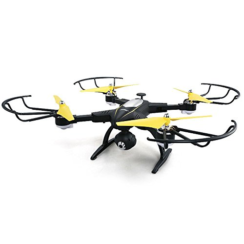 SZJJX RC Drone Foldable Remote Control FPV VR Wifi Quadcopter 2.4GHz 6-Axis Gyro 4CH Helicopter with 2MP 720P HD Camera Time Transmission RTF SJ39 Black