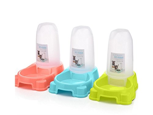Yunqir Suitable Automatic Pet Dog Cat Bowl Bottle Water Drinking Dispenser Feeder Fountain-Green