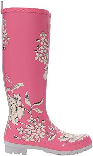 Joule Kvinna Welly Print Regn Boot True Rosa Blommor