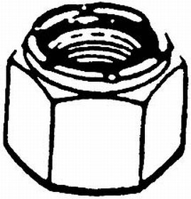Locknut Handi Man (HANDI MAN MARINE CO 6-32 Locknut (100) Screw)