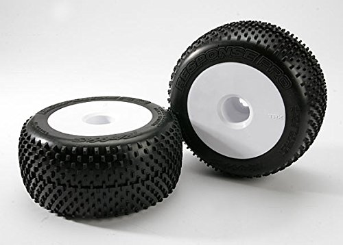 Traxxas 5375R Pro Response Tires Pre-Glued on 3.8'' Dished Wheels, 17MM (pair)