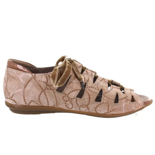 BeautiFeel Womens Edyta Bisque Anchor Ropes Print Suede Bisque Anchor Ropes Suede JhxlZAn